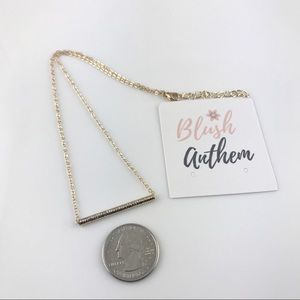 Jewelry - 4 for $25 textured tube bar necklace